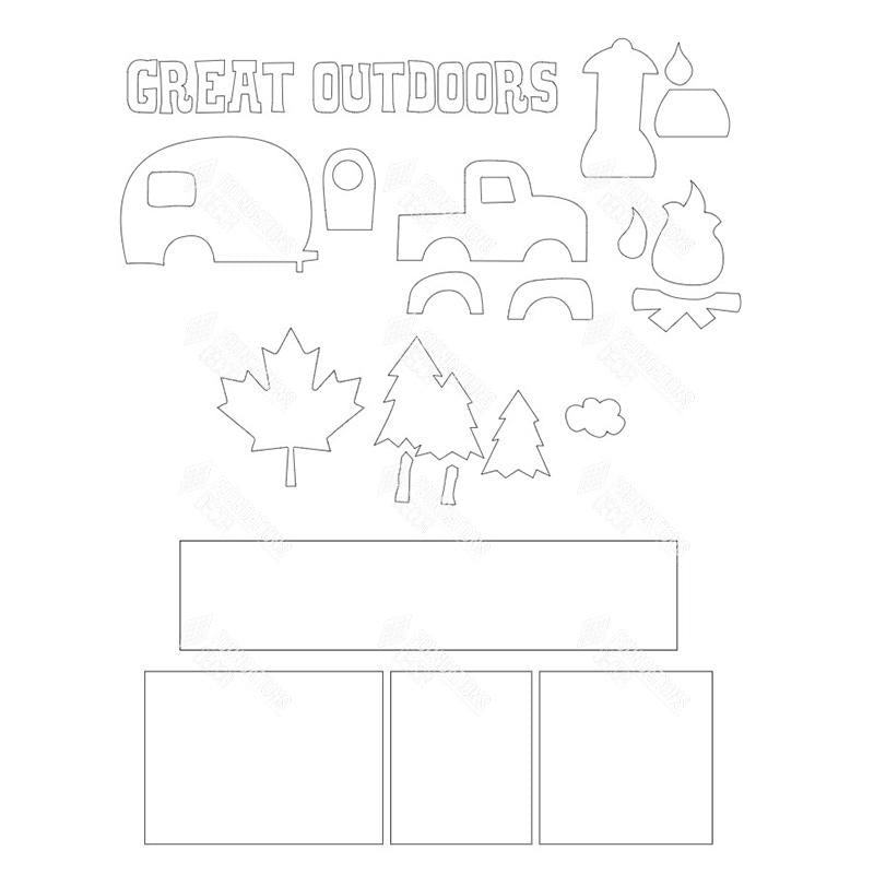 SVG File - Great Outdoors Shadow Box Kit