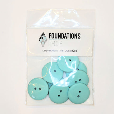 Buttons Teal 8 Large Foundations Decor