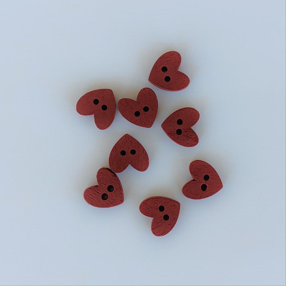 Buttons - Red Heart, 8 Buttons