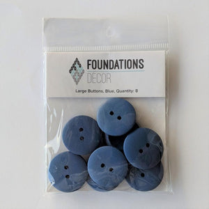 Buttons - Blue, 8 Large