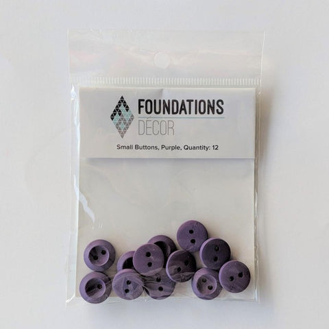 Buttons - Purple, 12 Small