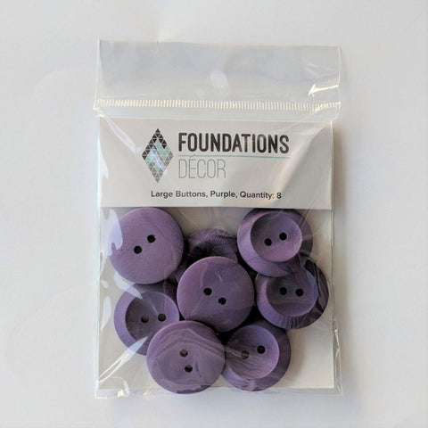 Buttons - Purple, 8 Large