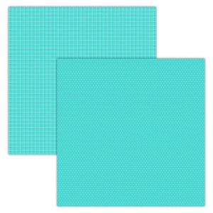 Foundation Paper - Plaid / Dots - Teal