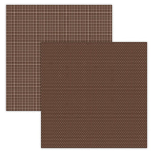 Foundation Paper - Plaid / Dots - Brown