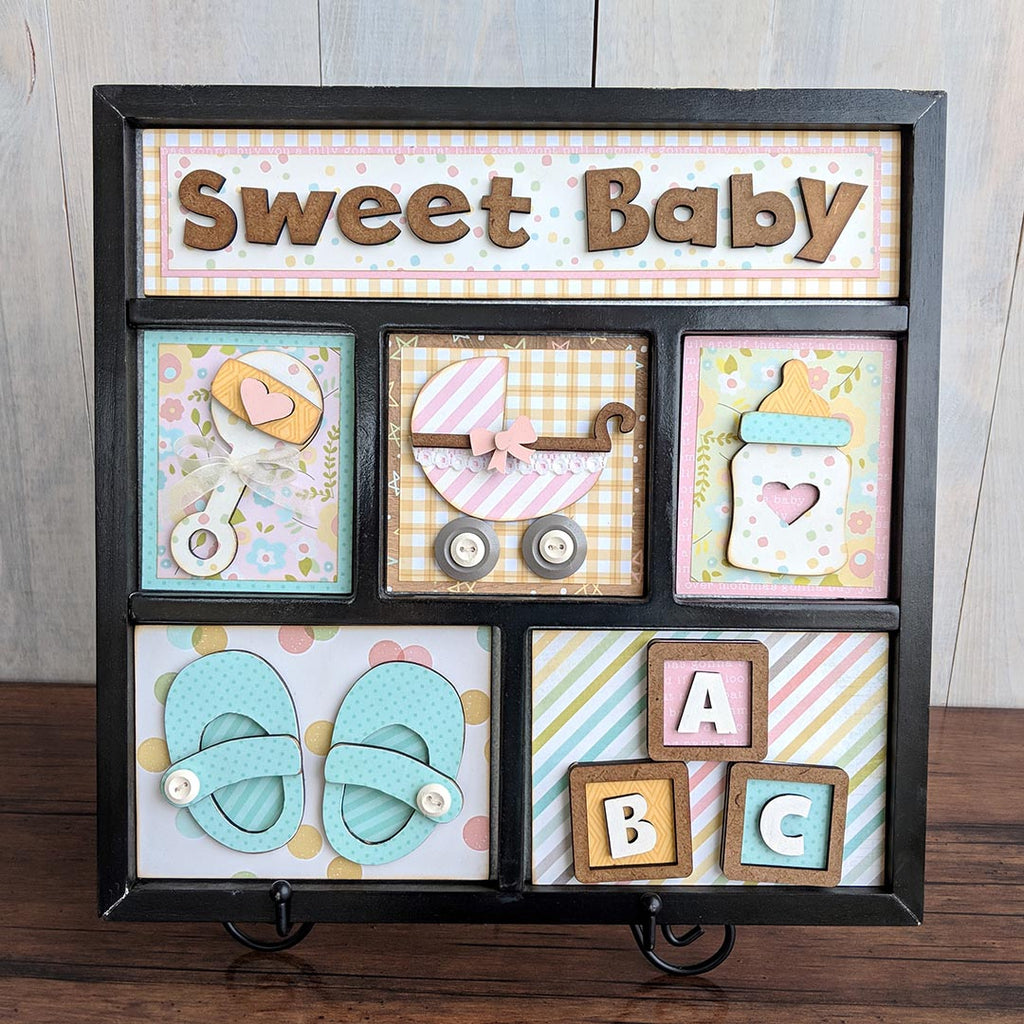 Sweet Baby Shadow Box Kit