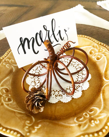 Mini Rustic Wire Pumpkin