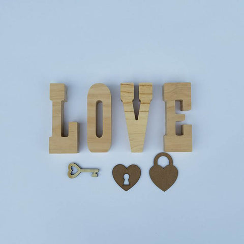"""LOVE"" with Key and Locket"