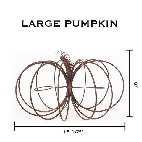 Large Rustic Wire Pumpkin