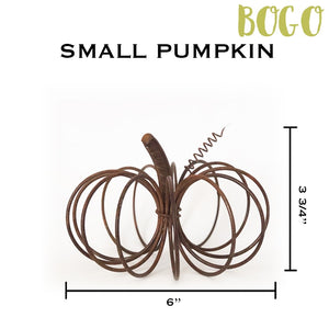Small Rustic Wire Pumpkin - 2 for the price of 1 (BOGO)