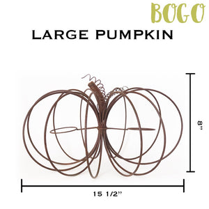 Large Rustic Wire Pumpkin - 2 for the price of 1 (BOGO)