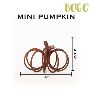 Mini Rustic Wire Pumpkin - 2 for the price of 1 (BOGO)