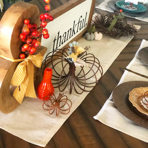 Medium Rustic Wire Pumpkin - 2 for the price of 1 (BOGO)