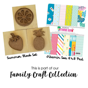 Summer Blocks Set w/ Vitamin Sea 6x8 Pad