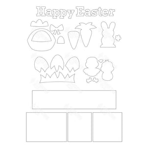 SVG File - Easter  Shadow Box Kit
