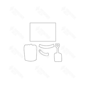 SVG File - Welcome Sign - Aug Sand Pail