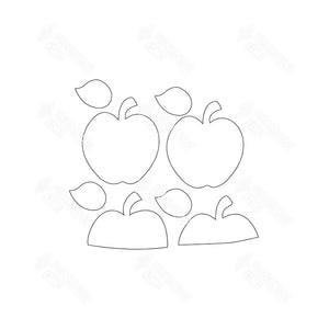 SVG File - Barrel Topper - September Apples
