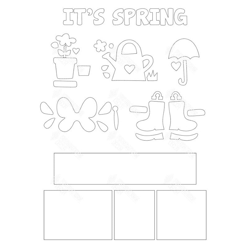 SVG File - Its Spring Shadow Box Kit