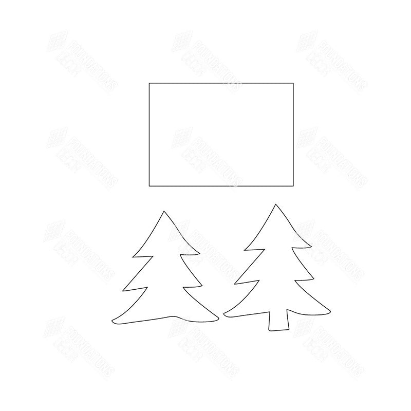 SVG File - Welcome Sign - Dec Tree