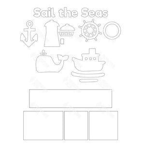 SVG File - Sail The Seas Shadow Box Kit