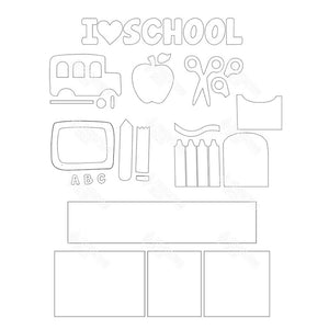 SVG File - School Shadow Box Kit