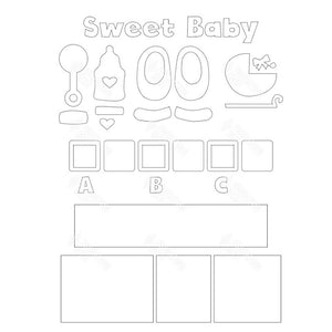 SVG File - Sweet Baby Shadow Box Kit