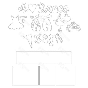 SVG File - Dance Shadow Box Kit