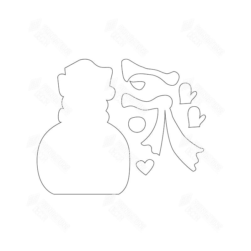 SVG File - Jan Snowman with Arms