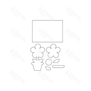 SVG File - Welcome Sign - Flower