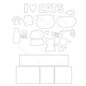 SVG File - Cats Shadow Box Kit