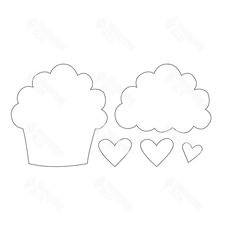 SVG File - Feb Cupcake