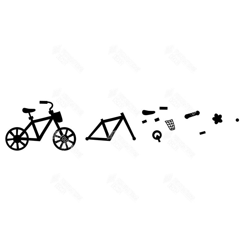 SVG File - Bicycle with wander tiles