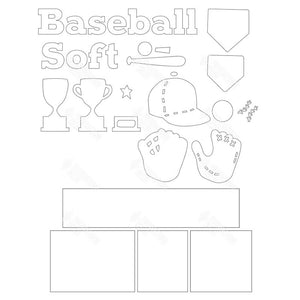 SVG File - Baseball Shadow Box Kit