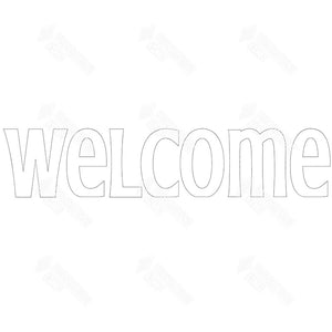"SVG File - ""welcome"" - thick letters, trendy font"