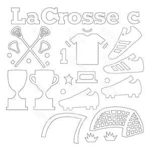 SVG File - LaCrosse Shadow Box Kit