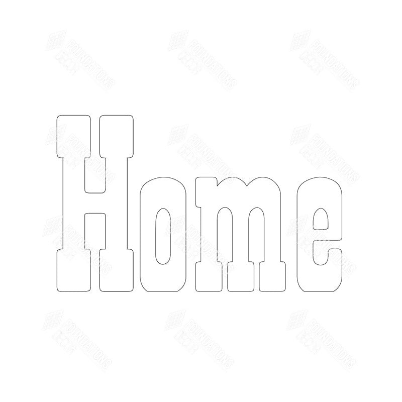 "SVG File - Home - w/ interchangeable ""o"""