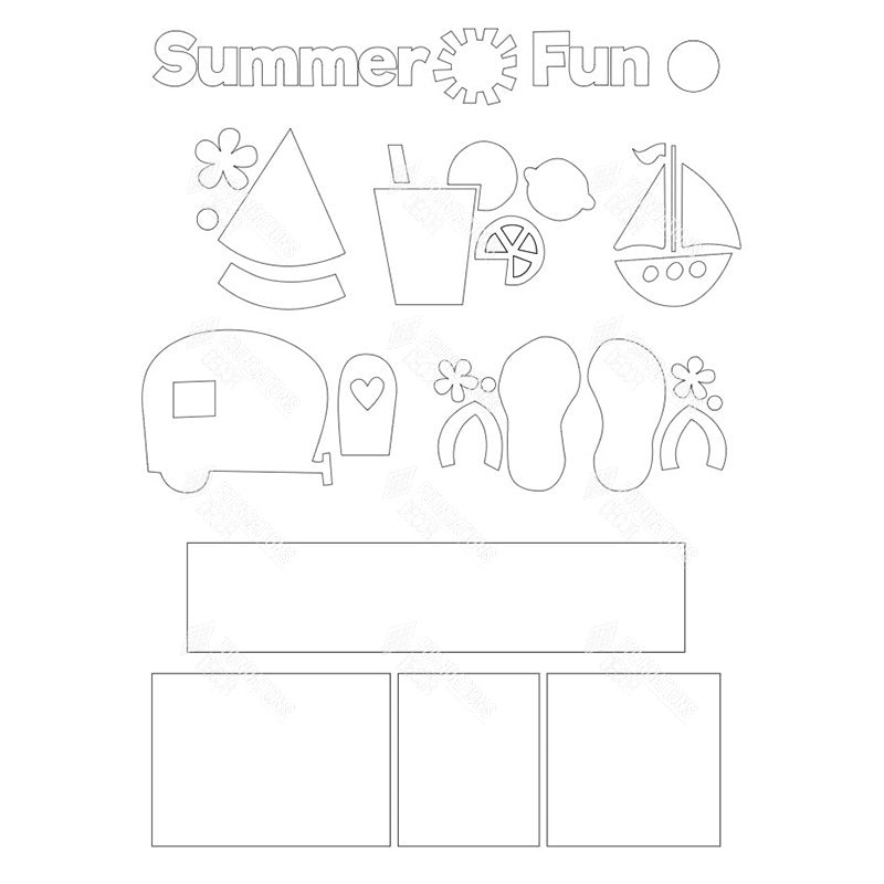 SVG - Summer Fun Shadow Box Kit