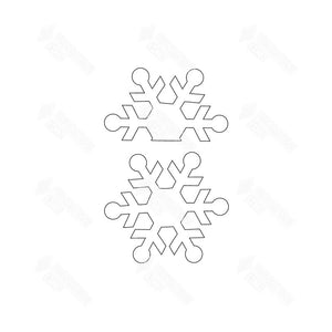 SVG File - Barrel Topper - January Snowflakes