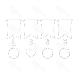 SVG File - Love Banner