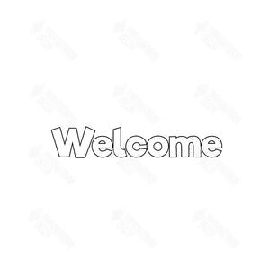 SVG File - Welcome Slat Sign
