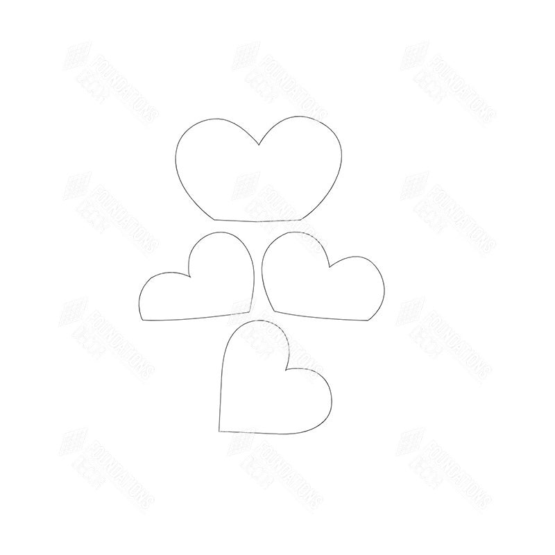 SVG File - Barrel Topper - February Hearts