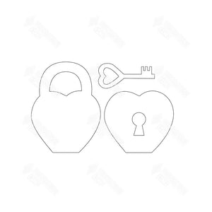 "SVG File - Home - Feb ""O"" - Lock & Key"