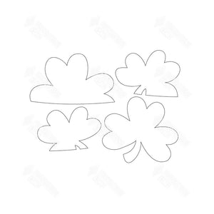 SVG File - Barrel Topper - March Shamrocks