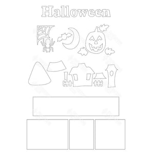 SVG File - Halloween Shadow Box Kit