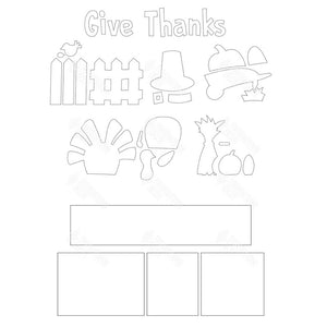 SVG File - Thanksgiving Shadow Box Kit