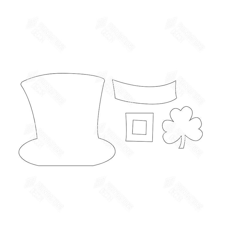 "SVG File - Home - March ""O"" Leprechaun Hat"