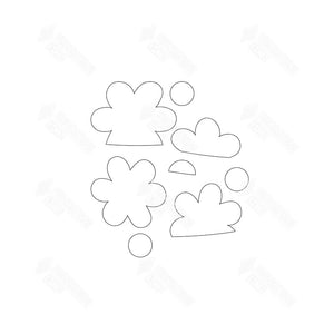 SVG File - Barrel Topper - May Flowers
