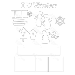 SVG File - Winter Shadow Box Kit