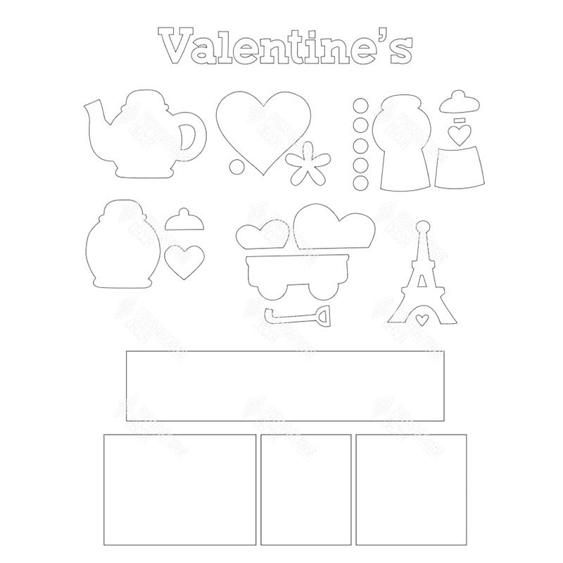 SVG File - Valentines Shadow Box Kit