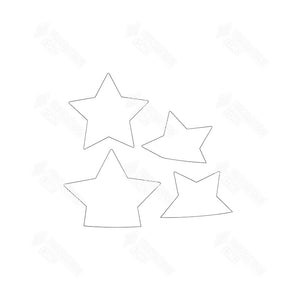 SVG File - Barrel Topper - July Mini Stars
