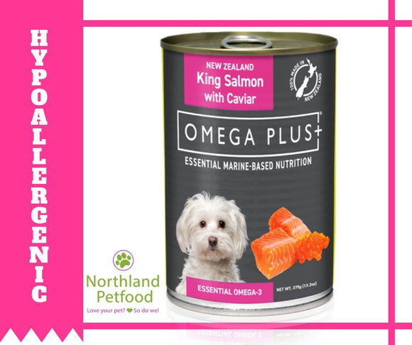 Omega Plus- King Salmon & Caviar 375g- Buy 6 Get 10% Off!